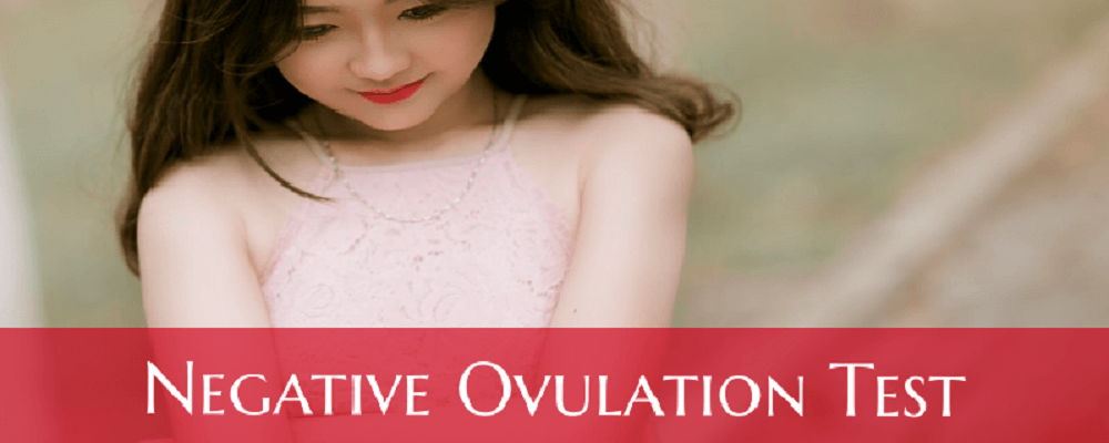 Negative ovulation test
